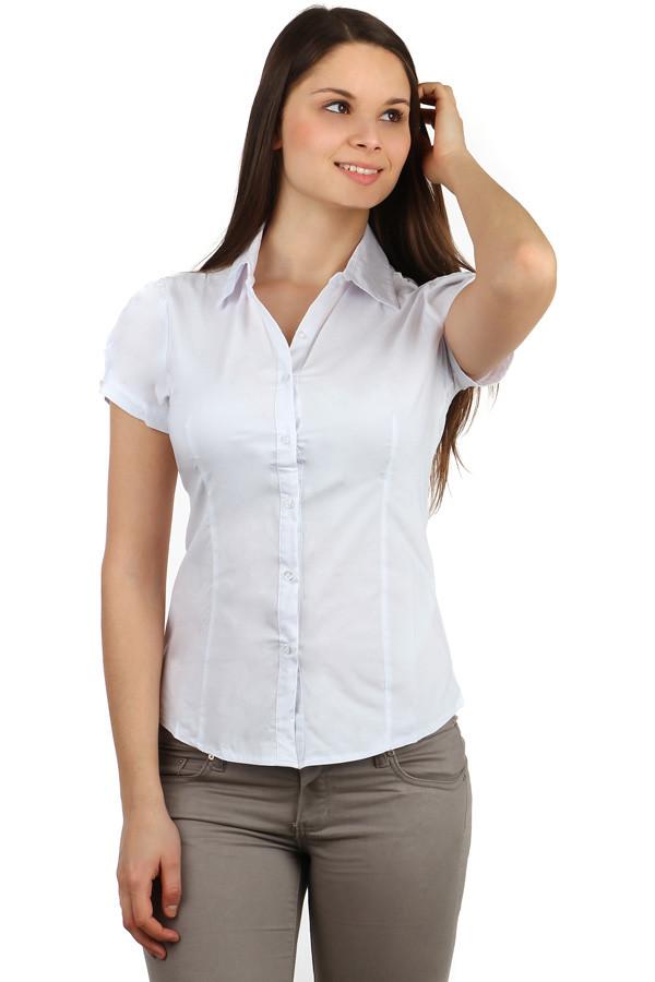 63a7a3dac84 Dámská bílá košile s krátkým rukávem