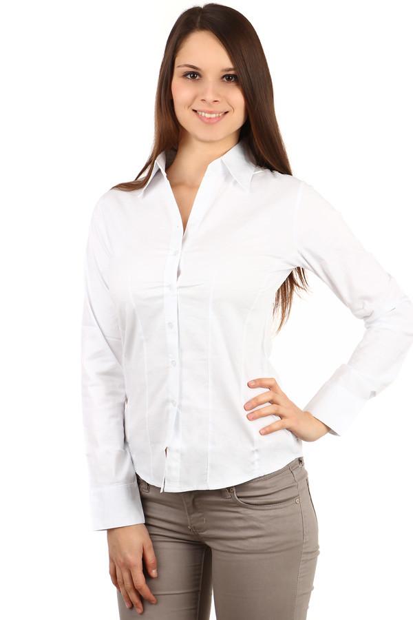Dámská bílá košile - i pro plnoštíhlé 3ec998e545