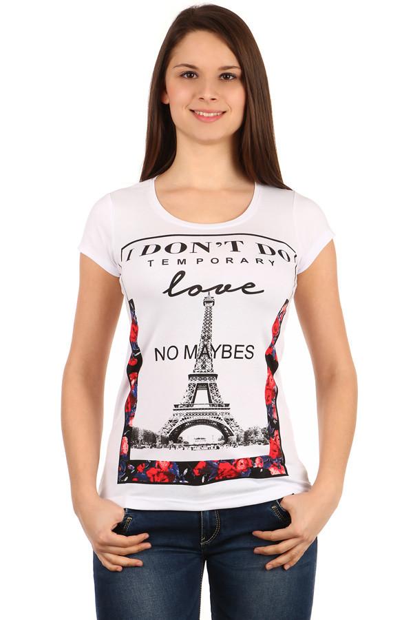 Dámské triko s potiskem Paris c8b1564f65