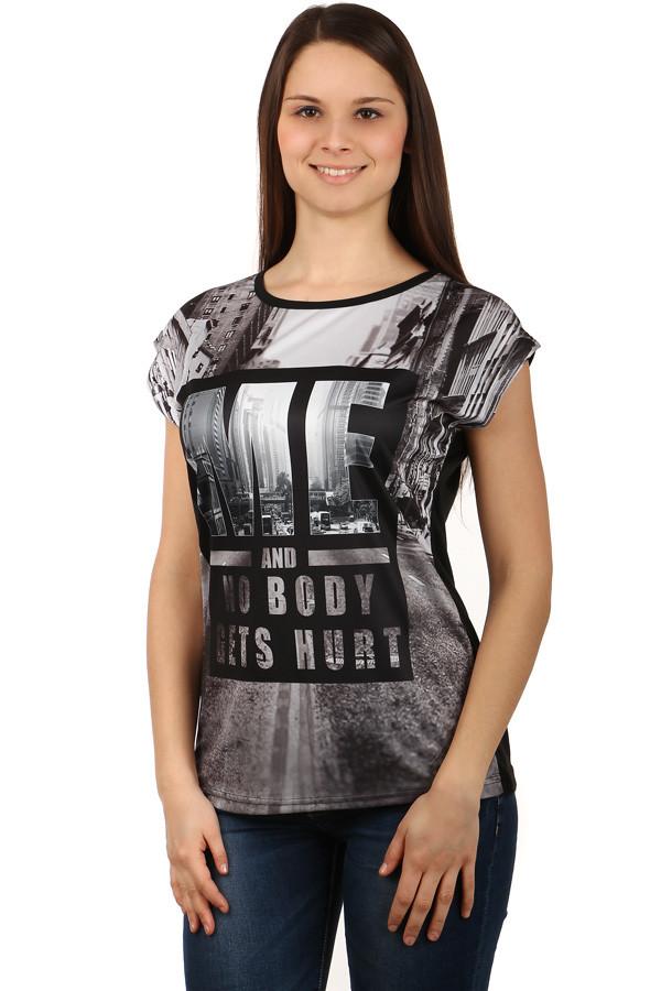 Dámské volné triko s potiskem ef4ebd4a28