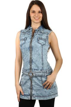 a10c51ce3a39 Džínové šaty s dlouhým rukávem