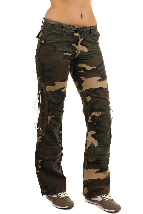 d16b45cfa23 Dámské maskáčové kalhoty 2v1