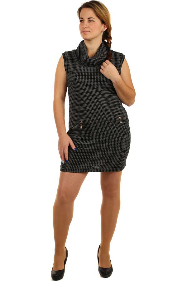 fd324c95c1a1 Úpletové šaty bez rukávů