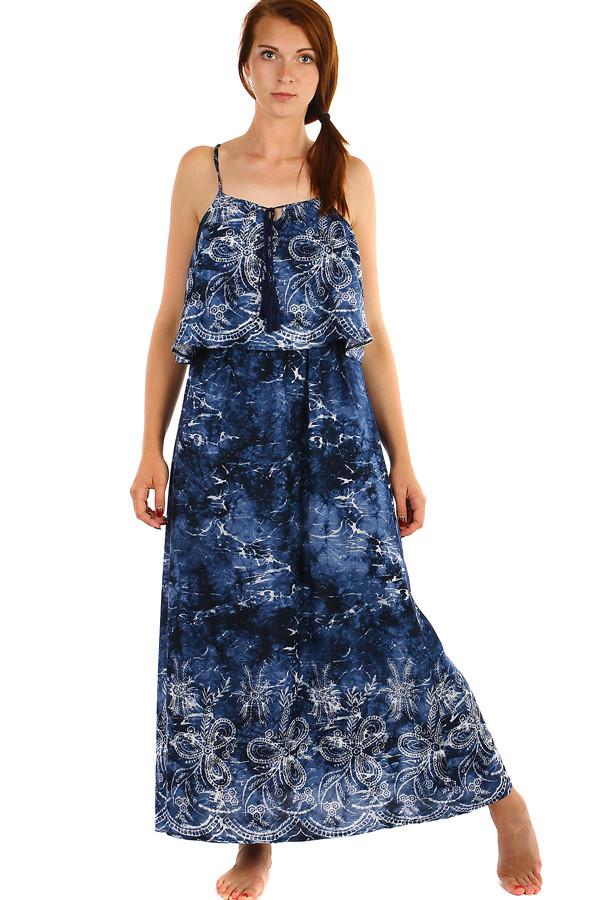 Dlouhé batikované letní maxi šaty 268e8589b8