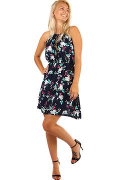 cafd6e27755a Vzorované retro šaty s páskem- i pro plnoštíhlé