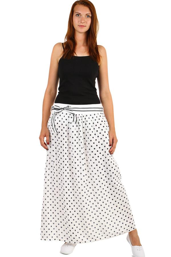 bdb418c827cb Lněná dámská retro sukně s kapsami
