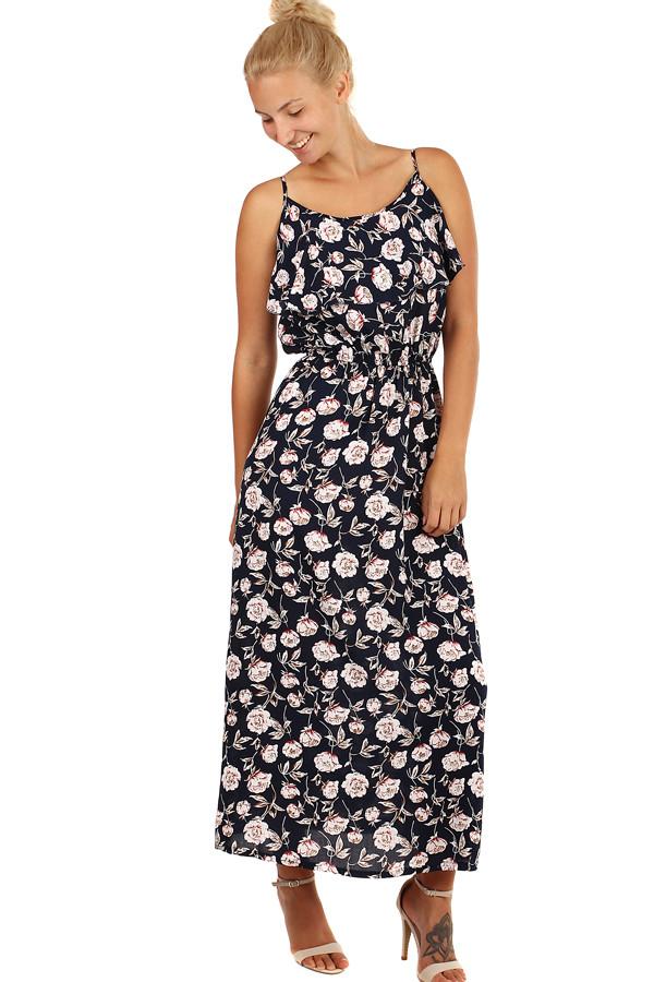Dlouhé letní šaty s květinovým vzorem 7b760de460