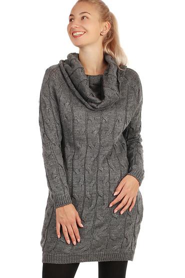 Pletené dámské šaty s dlouhým rukávem 4411b6c0fc