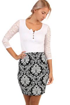 98c8625414f Dámská pouzdrová vzorovaná sukně - i pro plnoštíhlé