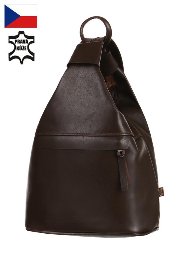 Dámský batoh kabelka 3v1 z pravé kůže na jedno rameno - malý - Česká výroba 8620641aa2