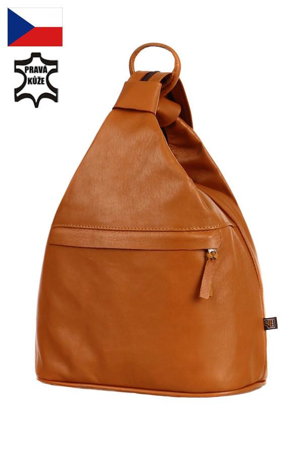 Dámský kožený batoh kabelka na jedno rameno 3v1 - velký - Česká výroba ba115cfbb1