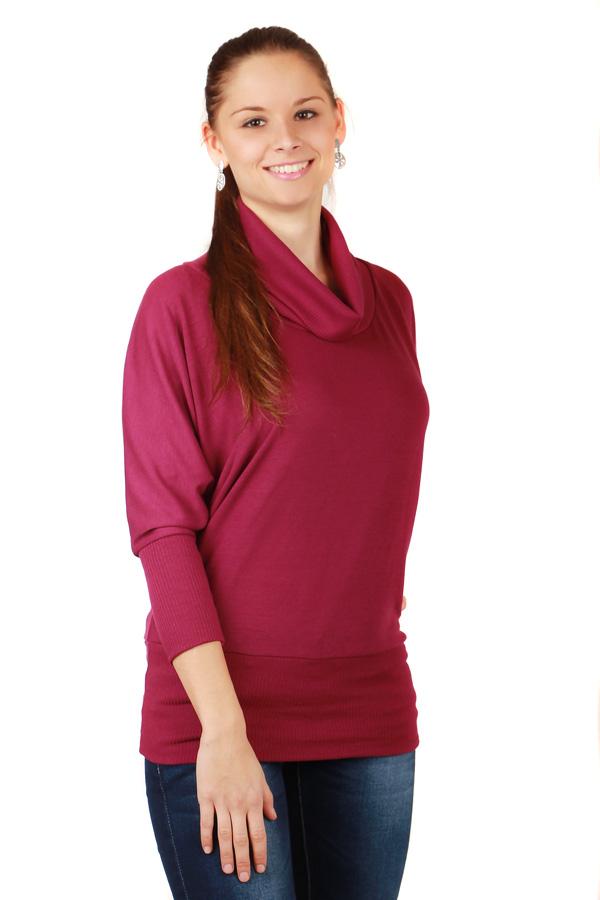 Dámský svetr s netopýřími rukávy 27884eb860