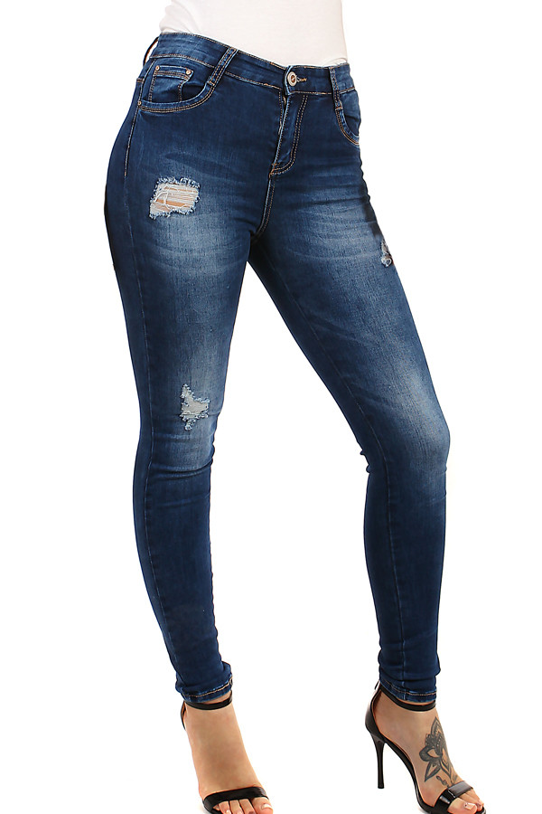 ad79d07ae87c Dámské džíny s potrhaným efektem