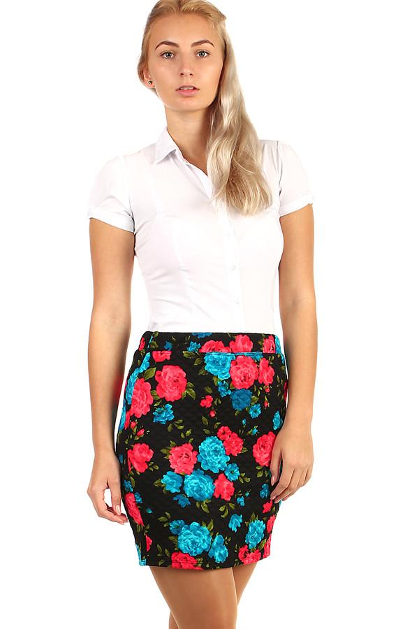 2244c2f47d86 Dámská pouzdrová květovaná sukně