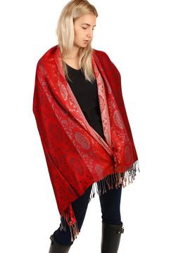 Pruhovaná dlouhá šála - pašmína - červená 485 Kč 199 Kč 2feeaab7af