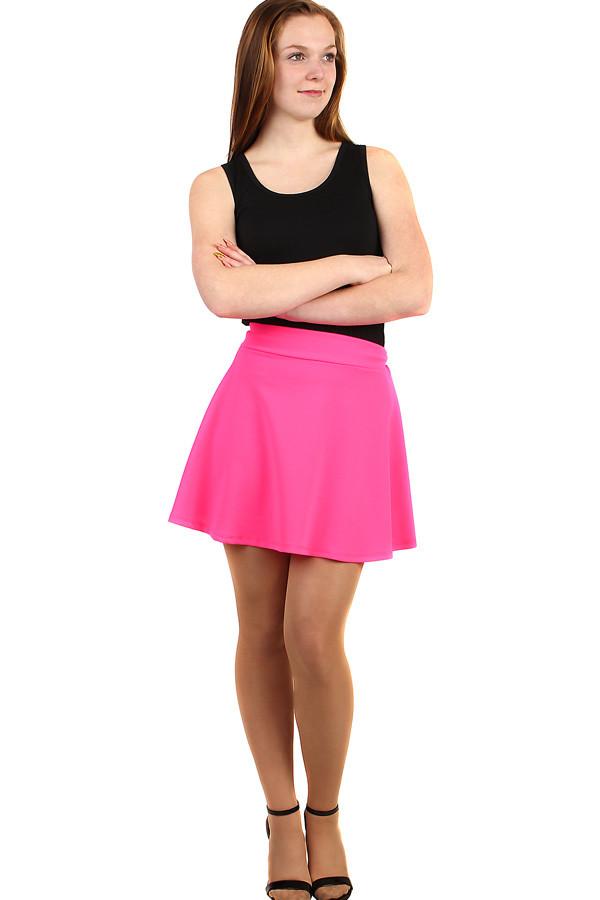 cc0c5720e5dc Jednobarevná áčková dámská krátká sukně