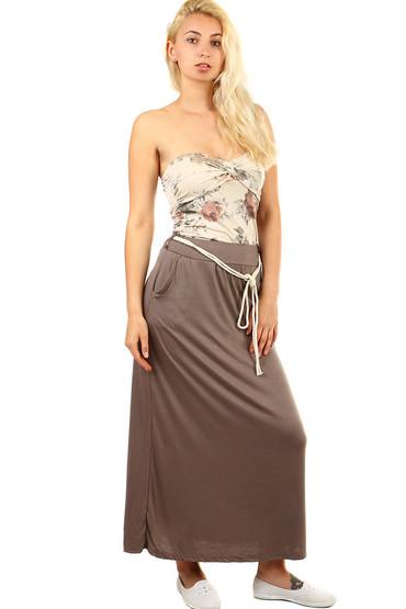 Dámská dlouhá jednobarevná sukně 659576ba0b