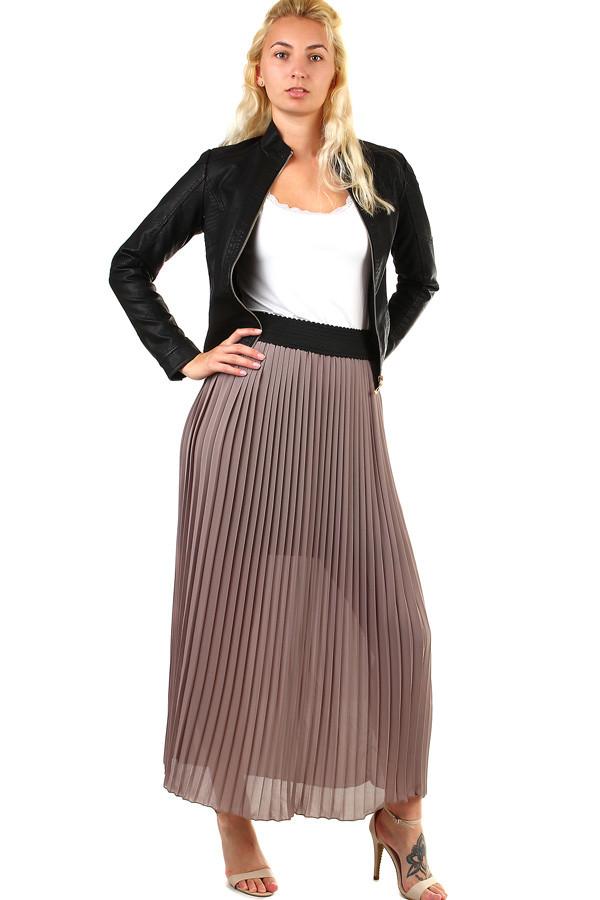 Dlouhá dámská plisovaná sukně skládaná 159ef1d8ee
