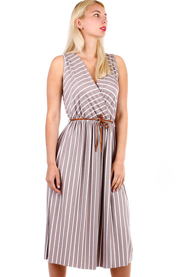 Pruhované dámské šaty- zavinovací efekt 0729b6a035