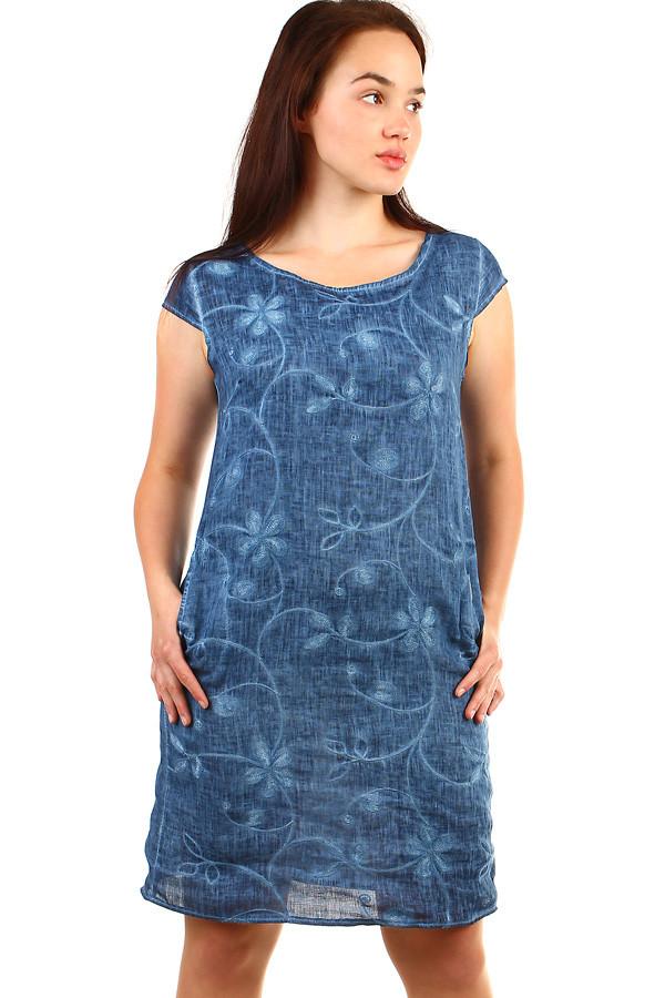 fc5d10464 Dámské plážové lněné šaty- i pro plnoštíhlé