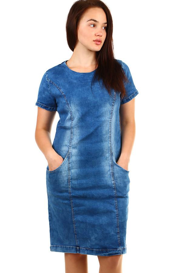 Dámské džínové šaty - pro plnoštíhlé fa2650be639