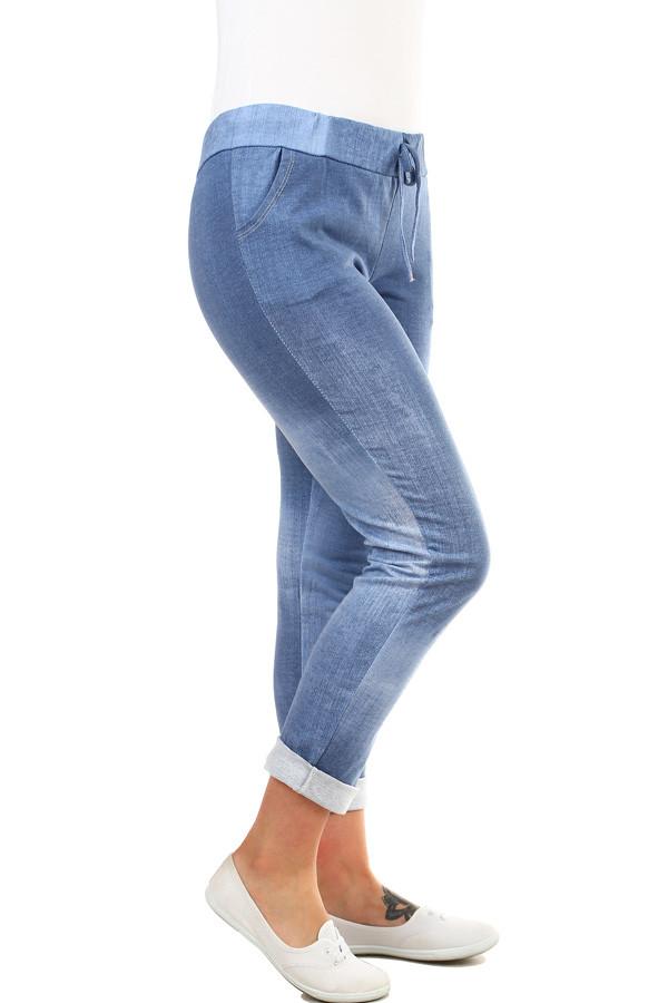 82ff5f71293 Dámské tepláky v džínovém vzhledu - zkrácené