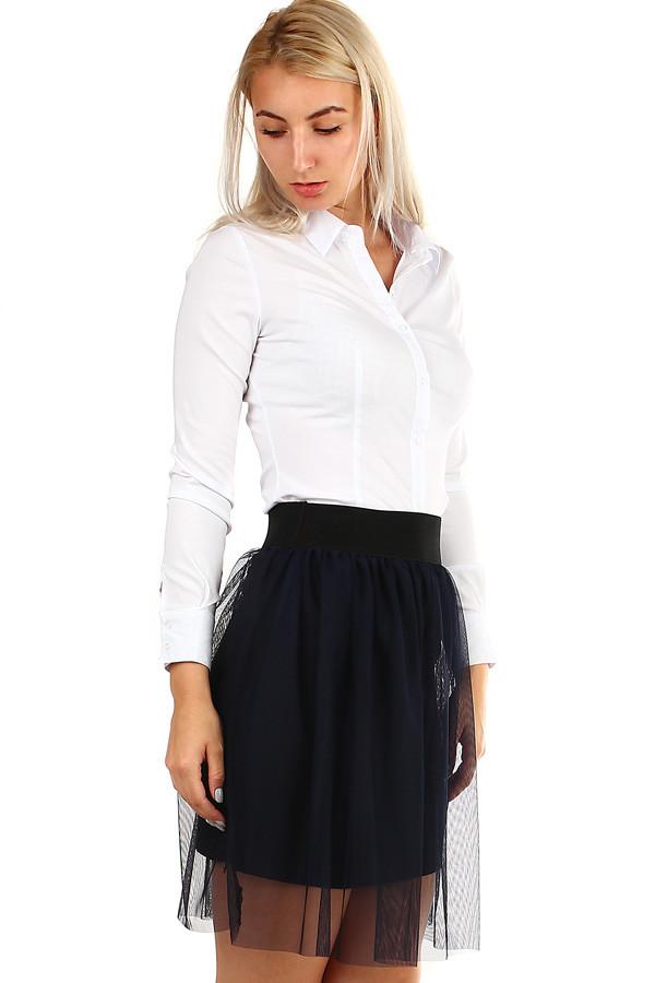 38d4264496d Dámská bílá košile s dlouhým rukávem
