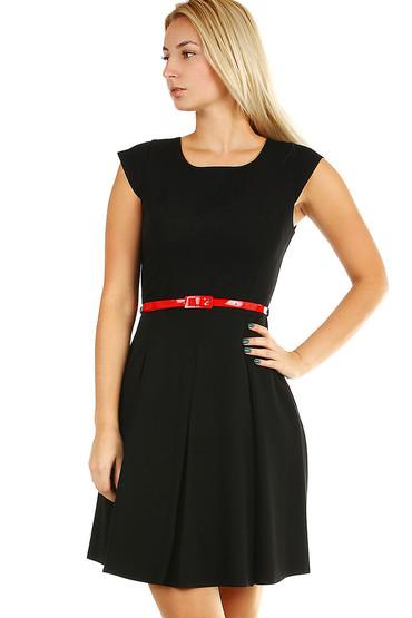 Retro dámské společenské černé šaty s páskem 86050e9cd0