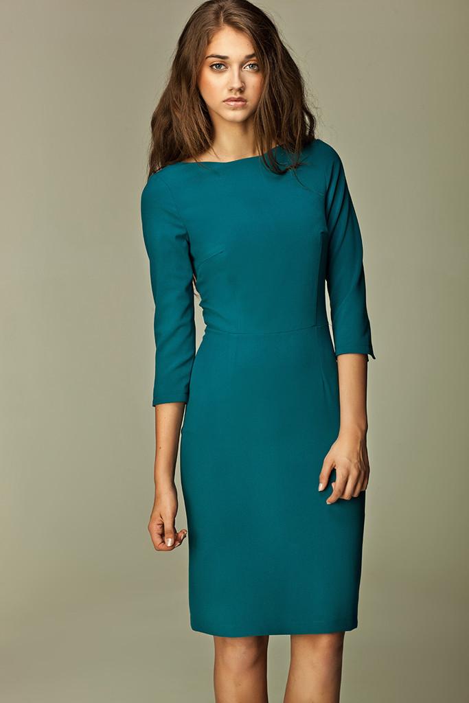 d53ed833b341 Pouzdrové společenské šaty s 3 4 rukávem