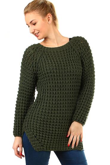 018b2a56940b Dlouhý dámský pletený svetr