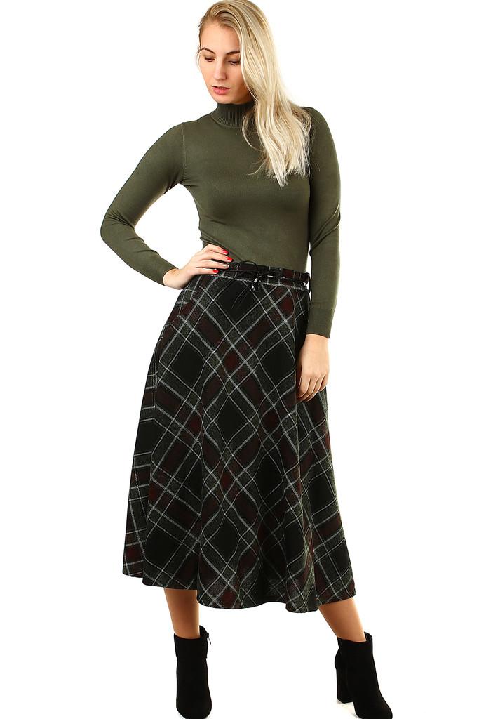 bb331b9907f5 Károvaná áčková midi sukně