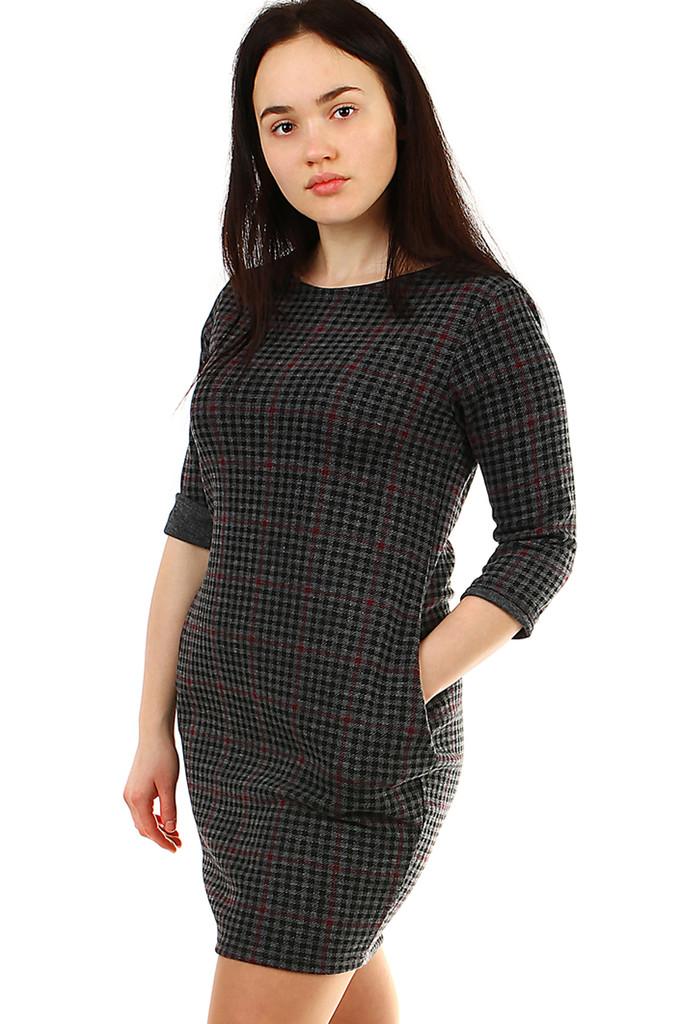 4e483043e06b Úpletové dámské šaty s 3 4 rukávem