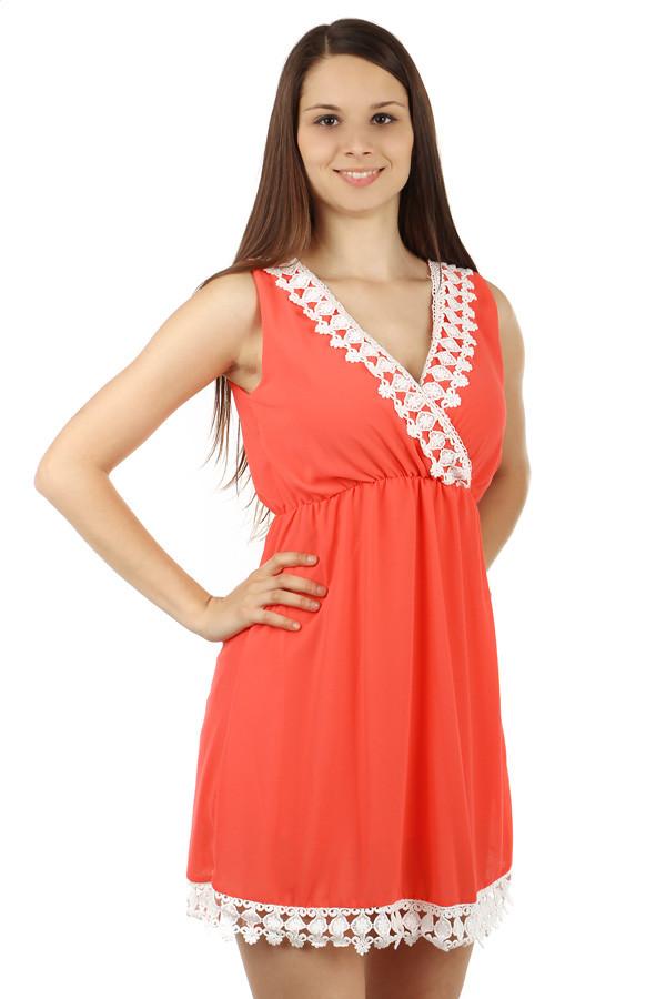 Šifonové šaty s krajkou 00788ad0a2