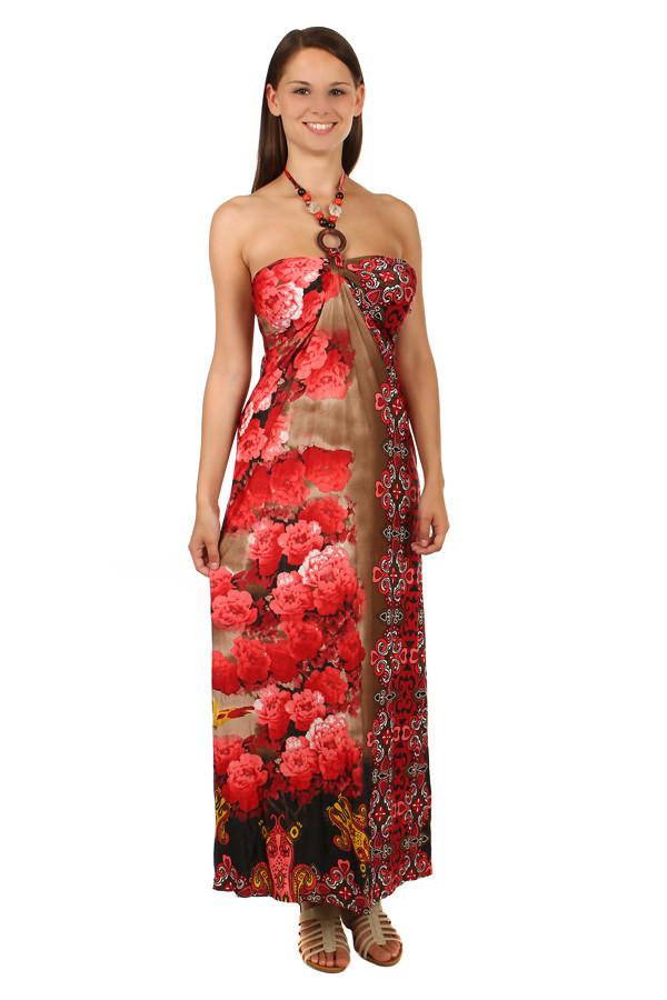 Dlouhé šaty s květinovým potiskem 604ad8a428
