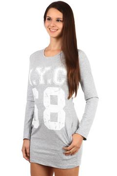 Dlouhé tričko šaty s výrazným nápisem 459 Kč 345 Kč ce7a6a3fdd