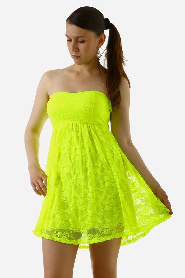 c22a0eb4350 Krajkové šaty bez ramínek