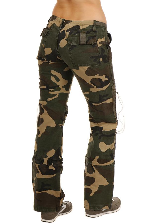 5f54b2cdb2dc Dámské maskáčové kalhoty 2v1