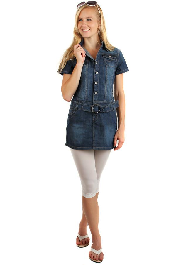 abfd43868789 Dámské riflové šaty na knoflíky