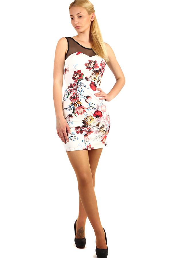 Mini šaty s květinovým vzorem 96ceb3241d5