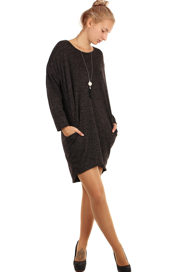 Volné žíhané šaty s kapsami - i pro plnoštíhlé 338a1b83d4