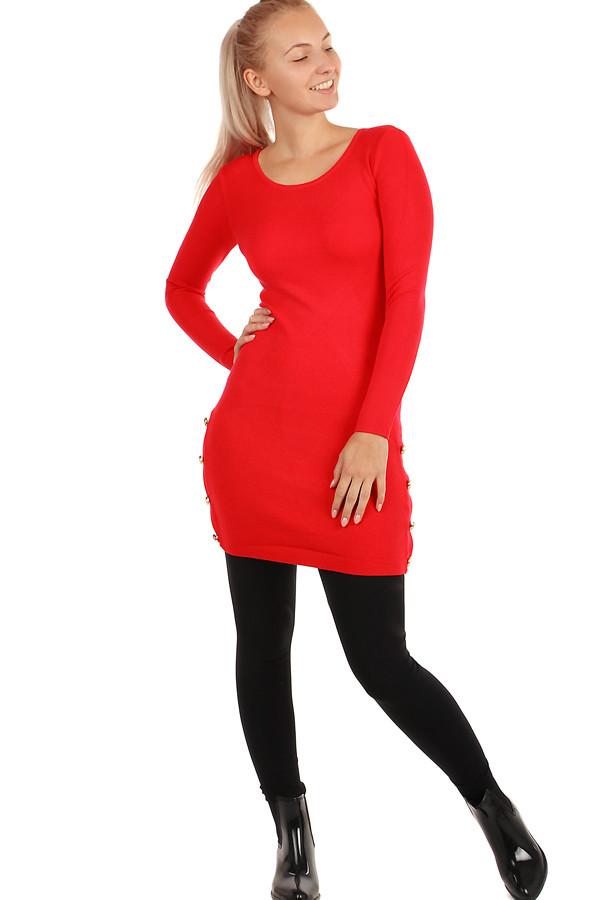 adc120dd8fdc Dámské úpletové šaty s ozdobnými patenty
