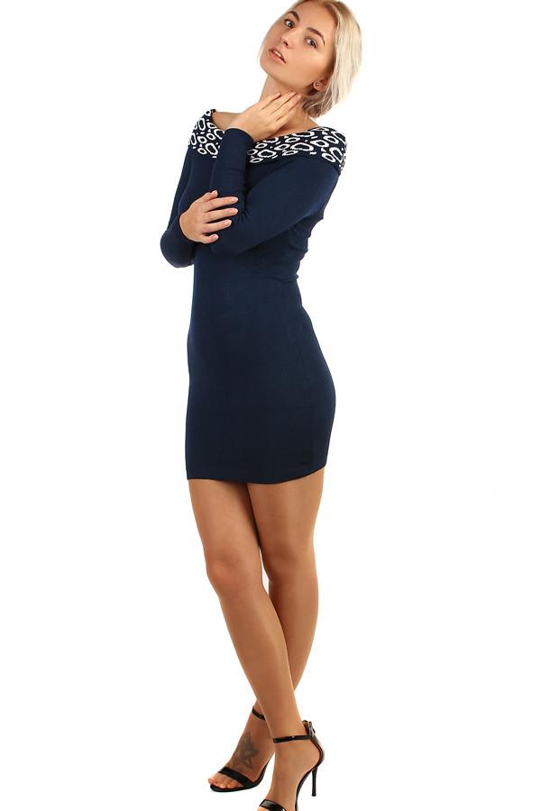 Dámské pletené šaty s odhalenými rameny 5162c6dcb7