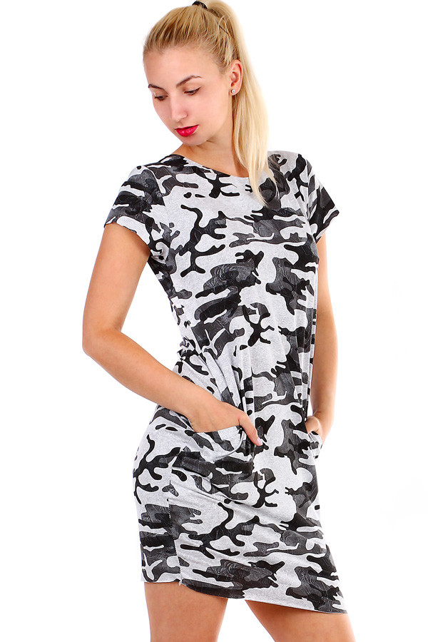 70a3f628d150 Dámské maskáčové šaty s krátkým rukávem