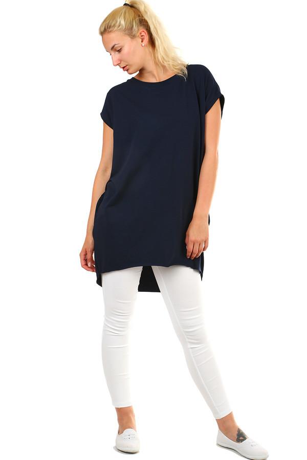 Dámské dlouhé tričko s krátkým rukávem 85d4da8bc6