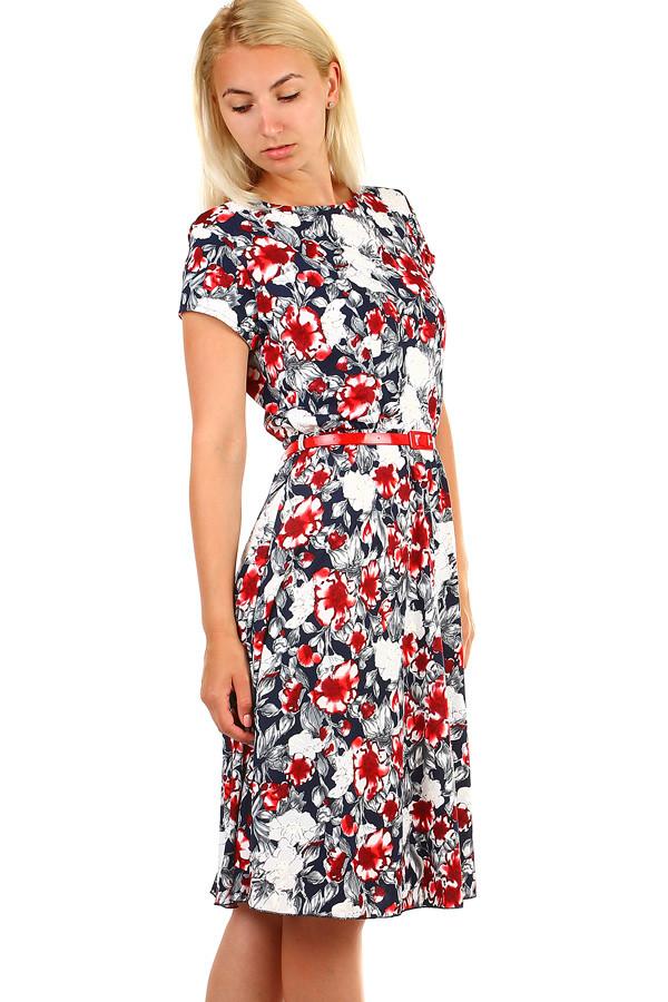 db28c092c830 Dámské retro šaty s potiskem - i pro plnoštíhlé