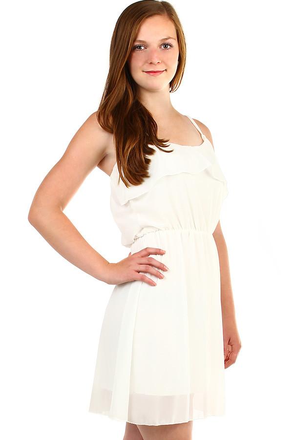 Dámské šifonové šaty s volánem d68202cd86a