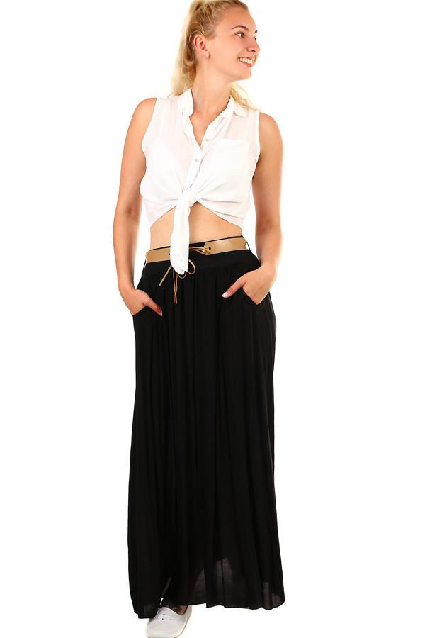 f59ea0ac53f5 Dámská romantická maxi sukně s kapsami