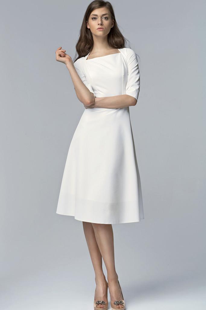 Společenské šaty s tříčtvrtečními rukávy 8111bdb629