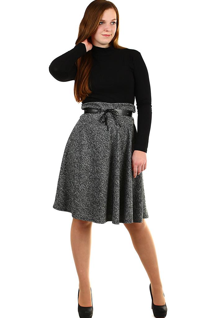 f44bf19353e4 Podzimní dámská áčková sukně ke kolenům