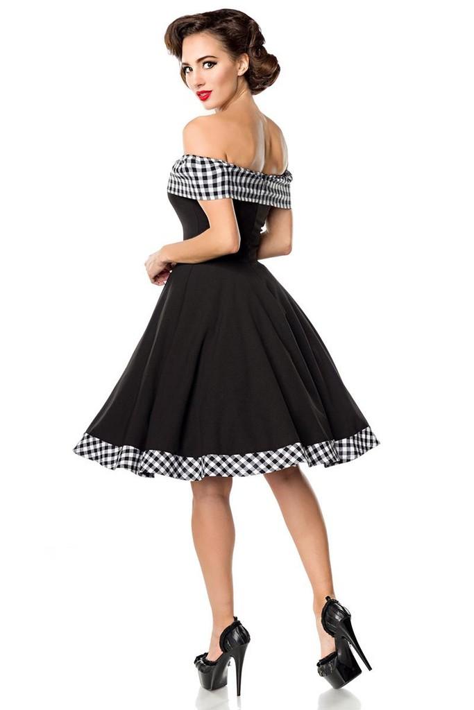 49b85036ee6d Společenské retro šaty s odhalenými rameny